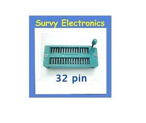 New 32 Pin Universal ZIF DIP Tester IC Test Socket