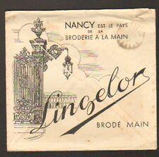 "NANCY (54) LINGERIE brodée main ""LINGELOR / Ets. Albert HEYMANN"" en 1939"