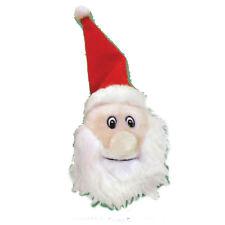 Santa Face Plush Dog Toy