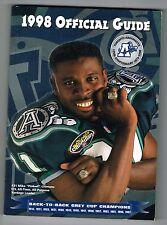 1998 Toronto Argonauts CFL Canadian Football League Media GUIDE
