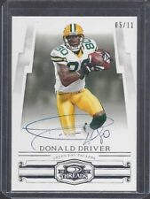 DONALD DRIVER 2016 CLASSICS RECOLLECTION 2007 THREADS PACKERS ON CARD #D 5/11