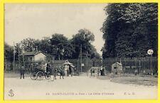 CPA France 92 - SAINT CLOUD en 1913 La PORTE Grille d' ORLÉANS Attelage