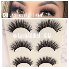🌺 Natural Fur Mink Lashes 🌸 3 Pairs Mink 3D Wispies Mink Lashes - USA SELLER