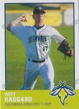 2017 Columbia Fireflies Witt Haggard RC Rookie NY Mets