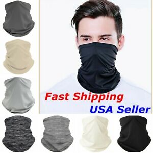 Face Mask Balaclava Tube Bandana Cover Snood Neck Gaiter Scarf Reusable Washable