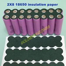 3PCS Insulator 2X8 18650 battery Barley Adhesive insulation paper Gasket board