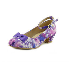 Colorful Painting Splatter Girl's Dress Shoes with Pumps Toddler Little Kids