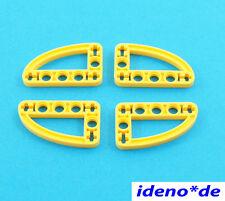 Liftarm 3 x 5 gelb flach oval 32250 42006  NEUWARE LEGO Technic Technik 4 Stk