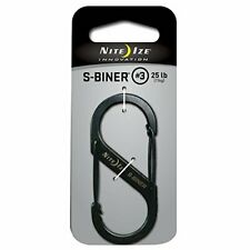 Nite Ize Size-3 S-Biner Dual Spring Gate Carabiner, Black