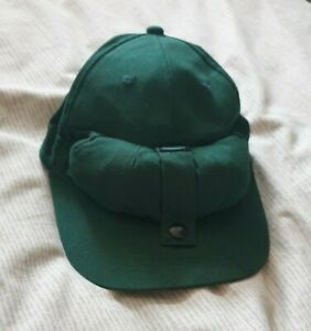 Vintage Green Stillwater Anglers Cap With Mosquito Net Face Covering VGC