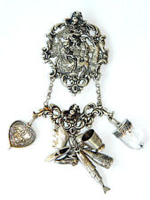 Belt-Clip / Brooch, Wien 1910s Xlarge Antique Silver Ceremonial Talisman Charm