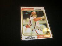 1974 TOPPS BASEBALL STEVE CARLTON PHILADELPHIA PHILLIES CARD #95 EX-NRMT G306