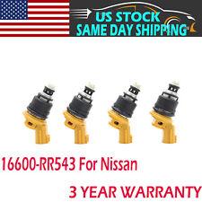 4 Pcs OEM Yellow Side 555cc Fuel Injectors For Nissan SR20DET 16600-RR543