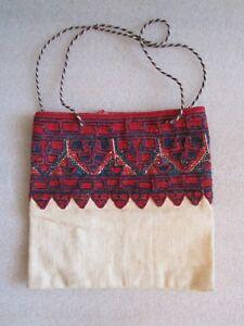 Original Antique Northwest Coast First Nations Haida Needlework Medicine Bag