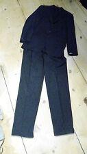 Edler Luxus Anzug Hugo Boss schwarz Nadelstreifen Gr. 94  Da Vinci