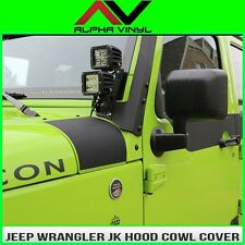 Hood Cowl Matte Black Decal Fits: Jeep Wrangler JK 07-18 Free Shipping!