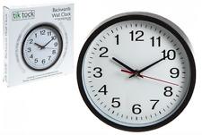 Reloj De Pared hacia Atrás-reverso con hora correcta-Anti las agujas del reloj Novedad Regalo