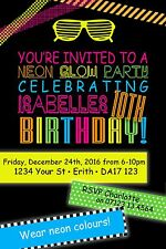buy neon party invitations ebay