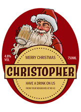 christmas gift Personalised Photo Beer Wine Gin Bottle Label Stickers