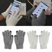 le donne l'inverno i guanti di lana touch - screen guanti senza dita a maglia