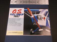 VINTAGE O.S.1987 FULL LINE MODEL PLANE -BOAT-CAR - HELI ENGINE BROCHURE *G-COND*