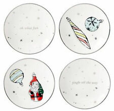"Kate Spade Vintage Ornaments Christmas Tidbit Plates Set/4 6"" New in Box"