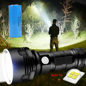 60000 Lumens Flashlight LED XHP70 Super Bright Tactical Torch with Battery SL