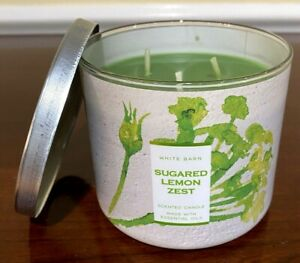Bath & Body Works SUGARED LEMON ZEST Large 3 Wick Candle Brand NEW