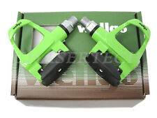 "New Wellgo R096B Road Bike Magnesium Pedals Cr-Mo Axle 9/16"" Green"