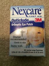 Nexcare Opticlude Orthoptic Eye Patches Junior - 30 Patches Fast Ship