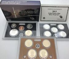 United States 2013 Mint Silver Proof 14 coins Quarters & Presidents set USA KMS