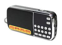 ST-102AM Pocket Portable Mini Speaker FM AM Radio USB Micro SD MP3 Player LED