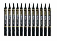 Pentel N850 Black Bullet Tip Permanent Marker Pens Metal Glass Wood 1 - 24 Pack