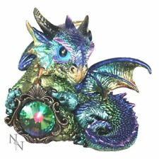 Novelty Blue Dragon Guardian Figurine Ornament Fantasy Art Gifts