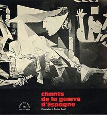 """LP 12"""" 30cms: Frederic Rossif: chants de la guerre d'Espagne. chant du monde. F3"""