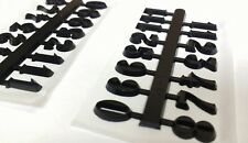 "1/2"" Arabic Self-Stick Hot stamped Black Clock Numbers (1-12) 2 SETS USA made!"