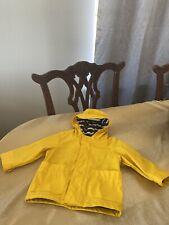 Baby Gap Rain Coat 6-12 months BabyGap Unisex boy girl Infant Yellow Raincoat