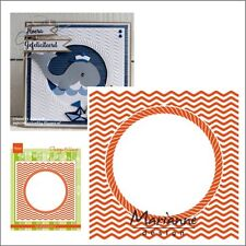 Ocean View Frame Embossing Folder DF3436 - Marianne embossing Folders circle