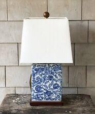 RALPH LAUREN Blue & White Mandarin Floral Porcelain Small Table Lamp ~ New