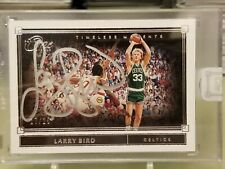 2019-20 Panini One and One Larry Bird Timeless Moments Autograph #17/25 Pls read