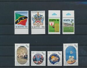 LO44101 St Kitts mixed thematics nice lot of good stamps MNH