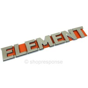 OEM Honda 03-08 Element Rear ELEMENT Emblem Badge Chrome 75722-SCV-A10 JAPAN