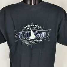Full Sail Brewing Company Mens XL Black Tee Shirt Stoked to Brew FS 47