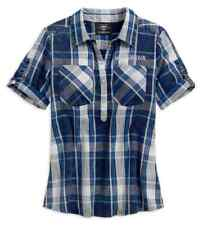 b9d70df154f Harley-Davidson Women s Printed Eagle Pullover Plaid Shirt 96222-18vw Sz 2w