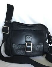MANUAL LEGEND Black Leather Cross Body/Shoulder Bag / Handbag