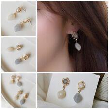 Resin Stud Earrings Drop Earrings Pearl Ear Stud Ear Clip Crystal Dangle