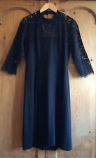 BNWT Great Plains Stretch Jersey Keyhole Dress with Lace Upper - L