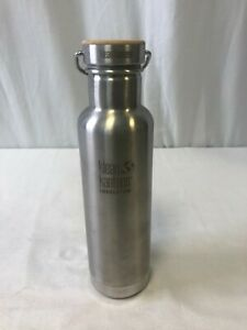 Klean Kanteen Insulated Reflect Water Bottle W/Bamboo Cap Brushed Stainless 20oz