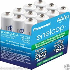 Panasonic Eneloop AAA NiMH Rechargeable 12 Pk batteries 2100 cycle Made in Japan