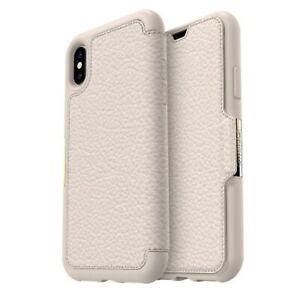Otterbox Apple Iphone X Xs Strada Case Cream Leather Wallet Flip Cover Slim Hard